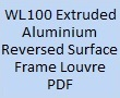 WL100 Reversed Surface Frame Louvre